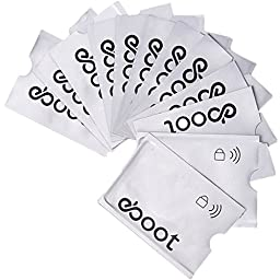 eBoot Anti-theft RFID Blocking Sleeves Card Holders Case for Credit Card (12 Pack)