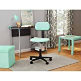 Office Chairs, Swivel Seat and Fabric Task Chair, Spearmint