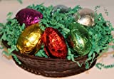 Chocolate Decadence Solid Chocolate Easter Basket Filled with Solid Chocolate Easter Eggs