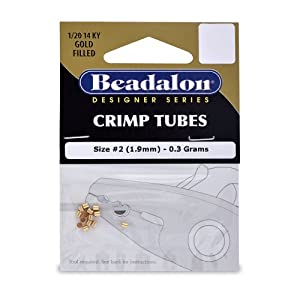 Beadalon Crimp Tube 1.3mm 1/20 14K Gold Filled 0.3G
