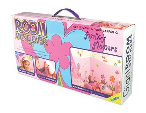 FunToSee Room Makeover Wall Sticker Decal Kit, Funky Flowers