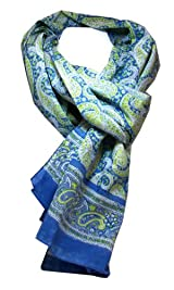 Anokhi 100% Cotton Voile Blue Paisley Fashion Scarf