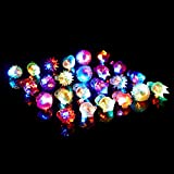 (iSmile) 光る指輪 おもちゃ ピカピカ クリスマス ハロウィン パーティー に大活躍 8種類 24個入り