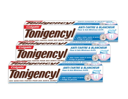dentifrices tonigencyl anti tarte blancheur dentifrice 75 ml lot de 3. Black Bedroom Furniture Sets. Home Design Ideas