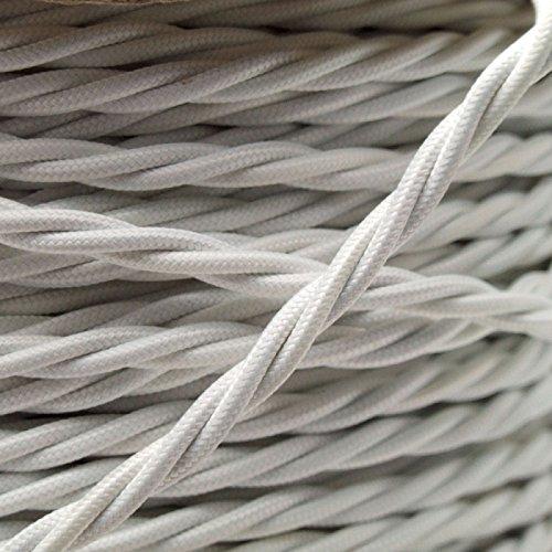 filo-elettrico-a-spirale-rivestito-in-tessuto-intrecciato-cavo-flessibile-da-05-mm-colore-bianco