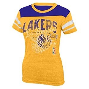 NBA Los Angeles Lakers Youth 8-20 Short Sleeve Tri-Blend T-Shirt Sweet Shot by adidas