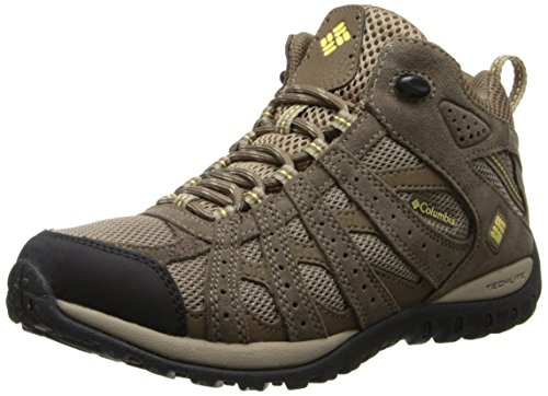 Columbia Women's Redmond Mid Waterproof Trail Shoe,Oxford Tan/Sunlit,8.5 M US