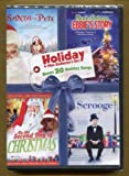 Holiday 4 Film Collector's Set with 20 Bonus Holiday Songs ** Santa & Pete * Miracle At Christmas Ebbie's Story * on the Second Day of Christmas * Scrooge ( Seymour Hicks )