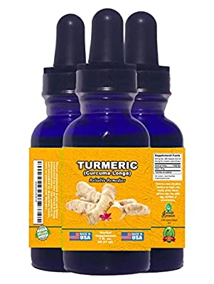 2 OUNCE! - TURMERIC (Curcuma Longa) BY RELIABLE REMEDIES! - FREE HOME HERBAL HINTS eBook! - ORGANIC LIQUID EXTRACT! - MADE IN AMERICA! - ALCOHOL FREE! - 100% MONEY BACK GUARANTEE!** SALE NOW!