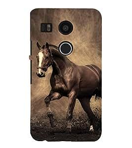 RIDING HORSE Designer Back Case Cover for LG Google Nexus 5X::LG Google Nexus 5X (2nd Gen)