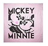 Disney Mickey Minnie Mouse Juniors V-Neck Fashion TShirt