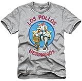 Breaking Bad Los Pollos Mens Heather Grey T-Shirt L