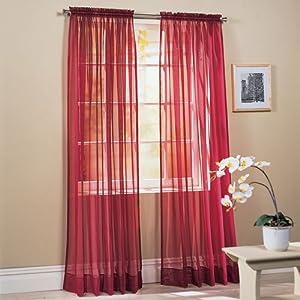 Alice Embroidered Kitchen Curtain Set (burgundy, Sage, Gold