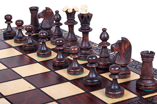 The Zaria - Unique Wood Chess Set, Pieces, Chess Board & Storage 1