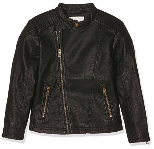 TOM TAILOR Kids Fake Leather Biker Jacket, Giacca Bambino, Nero (Black 2999), 8 anni