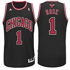 Derrick Rose #1 Youth Chicago Bulls Black Replica Basketball Jersey by adidas