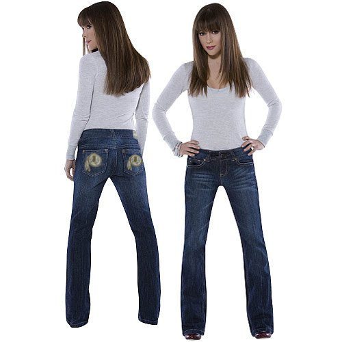 NFL Touch by Alyssa Milano Washington Redskins Signature Denim Jeans (27) at Amazon.com