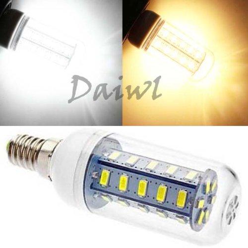 Daiwl 7W E14 36 Smd 5730 5630 Led Corn Bulb W/Cover 110V High Bright Warm White