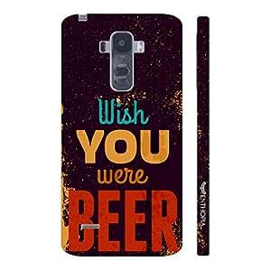 Enthopia Designer Hardshell Case Wish You Were Beer Back Cover for LG G4 STYLUS