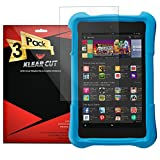 Klear Cut [3 Pack] - Screen Protector for Amazon Fire HD Kids Edition 7 - Lifetime Replacement Warranty - Anti-Bubble & Anti-Fingerprint High Definition (HD) Clear Premium PET Cover - Retail Packaging