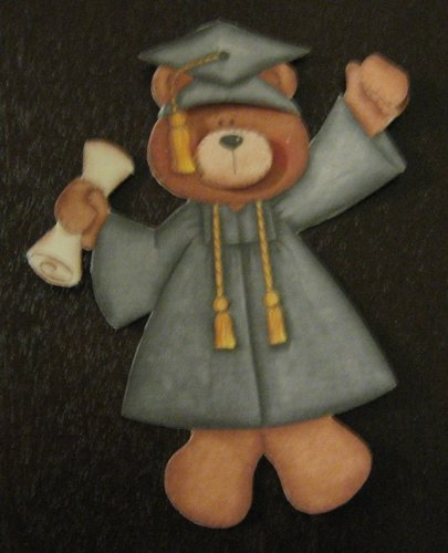 3-D Graduation bear paper piecing
