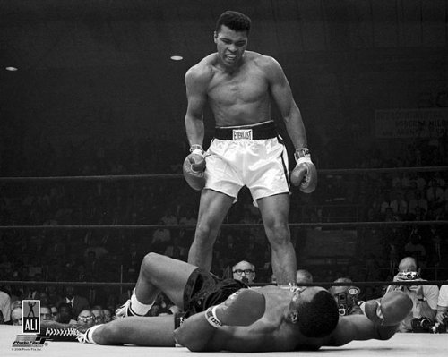 Boxer Muhammad Ali Knocks Out Sonny Liston 8x10 Silver Halide Photo Print