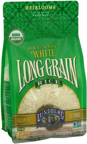 Lundberg Organic Long Grain Rice, White, 32 Ounce (Pack of 6)