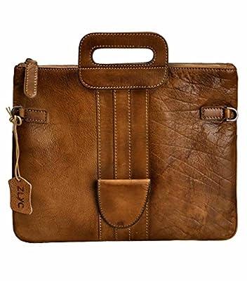 ZLYC Women Handmade Dip Dye Leather 3 Ways Use Handbag Folded Clutch Cross Body Bag