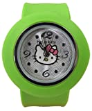 Hello Kitty Slap Watch - Silicone Slap On Watch - Apple Green - Childrens Size
