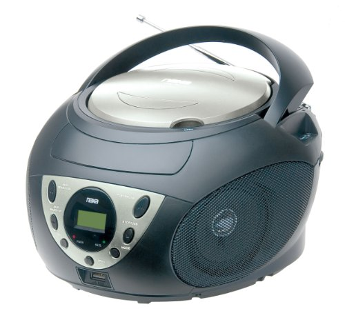 NAXA Electronics NPB-255 Portable MP3/WMA/CD Player with AM/FM Stereo Radio and USB Input Jack