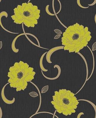 Florentina Floral Print Luxury Vinyl Wallpaper Natural Flower Leaf