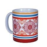 Tangerine Fete Porcelain Mugs (7700021)