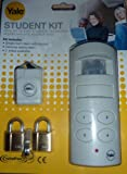 YALE ALARM SINGLE ROOM PIR STUDENT CARAVAN SHED KIT WITH BONUS PERSONAL ATTACK ALARM & TWO PADLOCKS