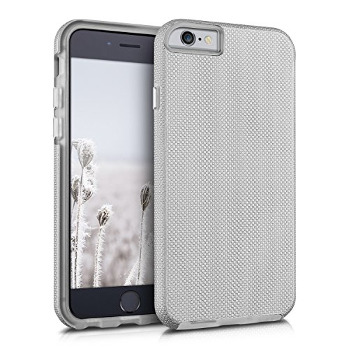 kalibri-Armor-Hlle-fr-Apple-iPhone-6-6S-TPU-Silikon-und-Kunststoff-Case-in-Silber