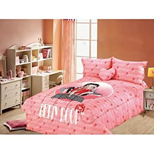 Betty Boop Queen Size Comforter, Sheet, Shams... Bedding Set - 5 Pieces Set