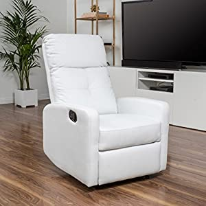 Teyana Leather Recliner Club Chair