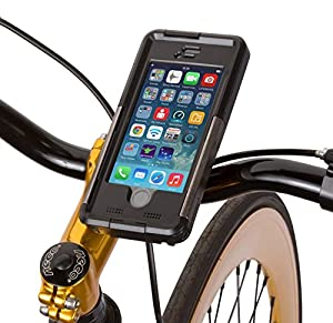 ArmorGuard MountCase Bike Kit for iPhone 5/5S - IP68 Waterproof / Shockproof Daily Case and Bike Mounting System