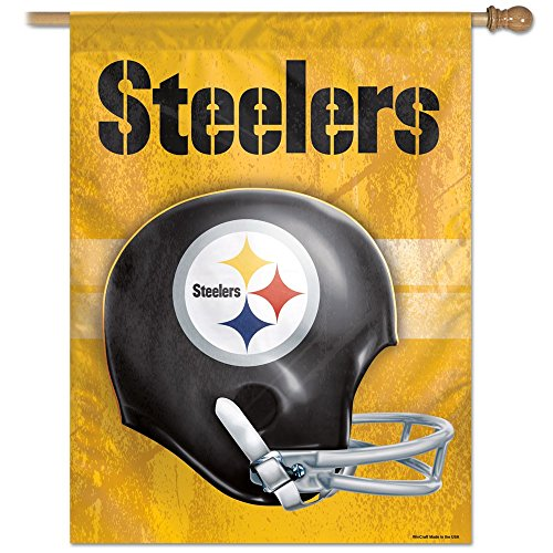 "Pittsburgh Steelers Official NFL 27""x37"" Banner Flag by Wincraft"