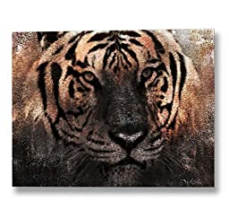 Neron Art - Hand painted Africa Oil Painting on Gallery Wrapped Canvas - The Tiger 48X36 inch