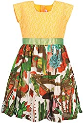 Euphoria Girls' Dress (SKU285F, Multi-Coloured, 5-6 Years)