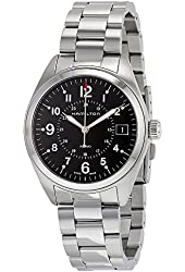 Hamilton Men's 'Khaki Field' Swiss Quartz Stainless Steel Casual Watch (Model: H68551933)