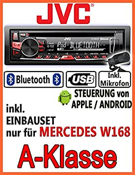 Mercedes-benz classe a w168 jVC-kD-r861BT-autoradio cD/mP3/uSB avec kit de montage