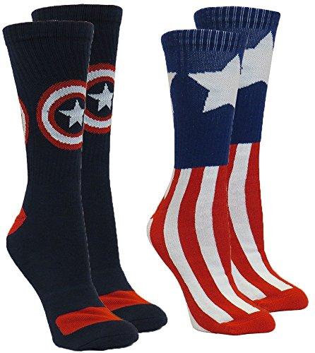 Marvel Captain America Socks 2 Pair