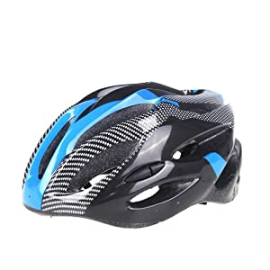 dodocool New Fashion Sports Bike Bicycle Cycling Safety Helmet with Removable Visor Carbon Fiber for Unisex Adult (Blue)