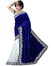 Blue Velvet Saree (LBSV04_Blue_Velvet Saree)