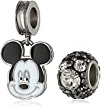 Disney Girls' Mickey Mouse Stainless Steel Pack Bead Charm