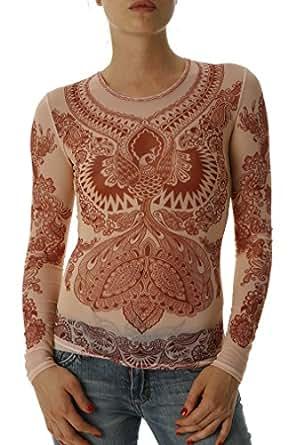 Women 39 s henna firebird mesh tattoo shirt at amazon women s for Mesh tattoo shirt