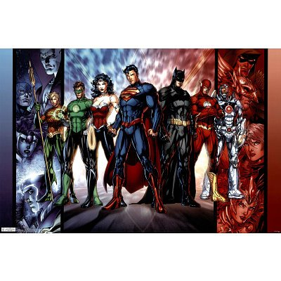 Justice League Group Art Print Poster - 22x34
