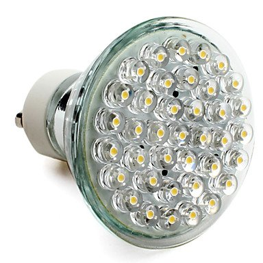 Gu10 2W 38-Led 120Lm 2800-3300K Warm White Led Spot Bulb (220-240V)