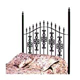 51MBMSCTfSL. SL160  Gothic Gate Wrought Iron Headboard Metal Finish: Aged Iron, Size: Queen